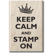 """Mounted Rubber Stamp 6.4cm X3.5""""-Stamp On"""