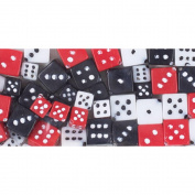Fun Pack Acrylic Dice Beads 8-10mm 62/Pkg-Assorted Colours