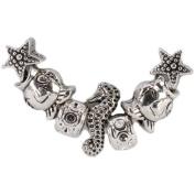 Trinkettes Metal Bead Mix 7/Pkg-Sea Shore