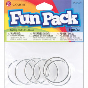 Cousin 34734224 Fun Pack Key Ring 6-Pkg-Silver