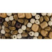 Cousin 34733002 Jewelry Basics Wood Bead Mix Assorted- No. 2
