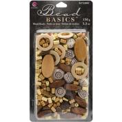 Cousin Jewellery Basics Wood Bead Mix, 150g/pkg