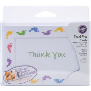 Wilton Thank You Card Kit, 20/pkg, Baby Feet