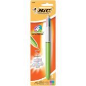 Bic 4-Colour Fashion Pen Carded-Purple, Pink, Turquoise, Lime Green