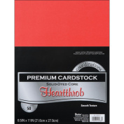 Core'dinations Value Pack Cardstock 22cm x 28cm 50/Pkg-Heartthrob - Smooth