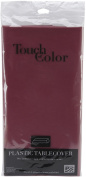 "Plastic Tablecover 54""X108""-Burgundy"