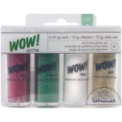 WOW! Extra Fine Glitter .1010ml 4/Pkg-Christmas 1