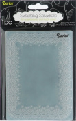 Darice EB12-17-48 Embossing Folder 4.25 in. x 5.75 in.-Doily Lace