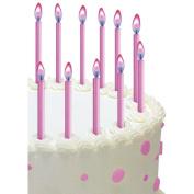 Colour Flame Candles 5.1cm 12/Pkg-Pink