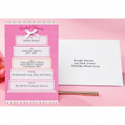 Wilton Bridal Shower Invitation Kit, Pink & White Cake 12 ct. 1008-247
