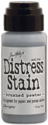 Tim Holtz Distress Stain 30ml-Brushed Pewter - Metallic