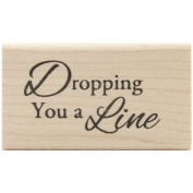 Inky Antics Mounted Stamps-Dropping A Line 2.5cm X5.1cm