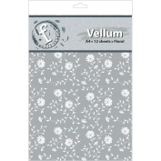 Ruby Rock-It FV18 Fundamentals A4 Vellum Sheets 11.7 in. x 8.3 in. 12-Pkg-Floral