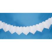 Tissue Paper Garland 9 Feet-White