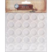 Vintage Collection Epoxy Dots 2.5cm 50/Pkg-Round