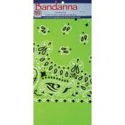 Neon Bandannas 60cm x 60cm -Green Paisley