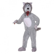 Grey Wolf Mascot Adult Halloween Costume, Size