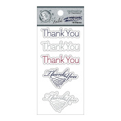 Fundamentals Cardstock Stickers-Thank You