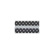Fashion Black & White Closed End Zipper 18cm -Black W/White Dots