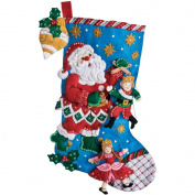 Christmas Puppet Show Stocking Felt Applique Kit-46cm Long