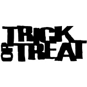 Holtz Red Rubber Stamp-Trick Or Treat 3.8cm X9.5cm