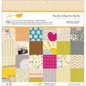 American Crafts Paper Pad 30cm x 30cm 48/Pkg-Amy Tangerine - Original