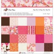 American Crafts Paper Pad, 30cm by 30cm , Pink Plum