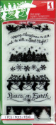 Inkadinkado Christmas Clear Stamps 10cm x 20cm Sheet, Holiday Silhouette