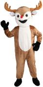 Reindeer Mascot Adult Halloween Costume, Size