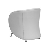 Flash Furniture Hercules Jet Series Reception Chair in White