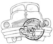 Summer Memories Cling Stamp 17cm x 10cm Package-Edwin's Oldsmobile