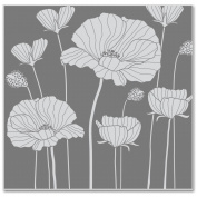 Hero Arts Cling Stamps 10cm x 9.5cm -Poppy Background