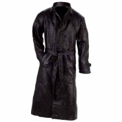The buttery soft feel of this Giovanni Navarre Italian Stone Design Genuine Leather Trench GFTRL