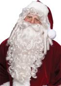 Santa Super Deluxe Adult Halloween Wig And Beard