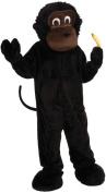 Monkey Mascot Adult Halloween Costume, Size