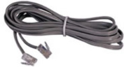 AT & T 15901 14-Foot Clear Line Cord in Satin Silver
