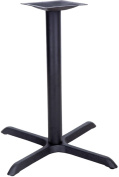 30'' x 30'' Restaurant Table X-Base with 3'' Table Height Column
