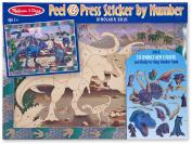 Melissa and Doug 4007 Peel & Press Sticker by Number - Dinosaur Dusk
