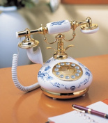 9005 Porcelain Phone - Blue and White