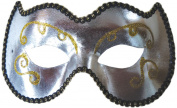 Silver and Gold Opera Eye Mask Adult Halloween Accessory