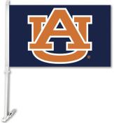 BSI Products 97245 Auburn Tigers- Car Flag W-Wall Brackett