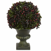 Nearly Natural Floral Décor 22cm . H Green Pepper Berry Ball Topiary (Set of 3) Greens 4126
