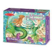 Melissa and Doug 4436 Mermaid Playground Floor Puzzle - 48 pc