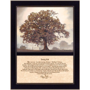 Millwork Engineering Living Life 2 Part Framed Inspirational Print/ Textured by The Craft Room Model # COW128F