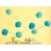 Tissue Paper Pom-Pom Kit Makes 5-Blue