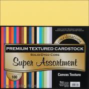 Core'dinations Value Pack Cardstock 30cm x 30cm 100/Pkg-Super Assortment - Textured
