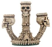 YTC SUMMIT 6241 Ossuary Skeleton Triple Candleholder - C-12