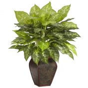 Nearly Natural 6676 Dieffenbachia with Decorative Vase Silk Plant