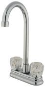 Kingston Brass KB49.AC Bar Magellan Faucet Double Handle ;Polished Chrome