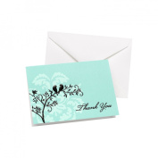 Hortense B. Hewitt Wedding Accessories Thank You Note Cards, Perched Birds, Pack of 50